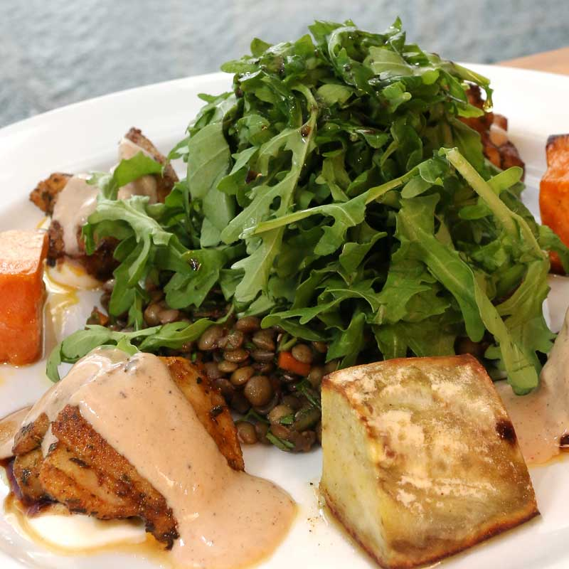 The Cormorant - Cafe on the Pier Seahorse World - Chicken Lentil Salad